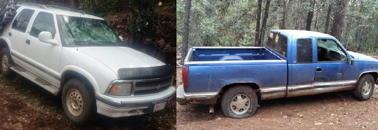 Recuperan en Batopilas dos vehículos robados