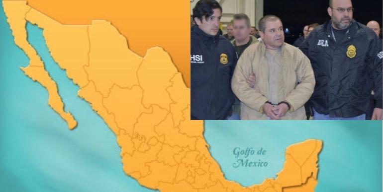 """Así quedó el mapa del narcotráfico tras juicio de """"El Chapo"""""""
