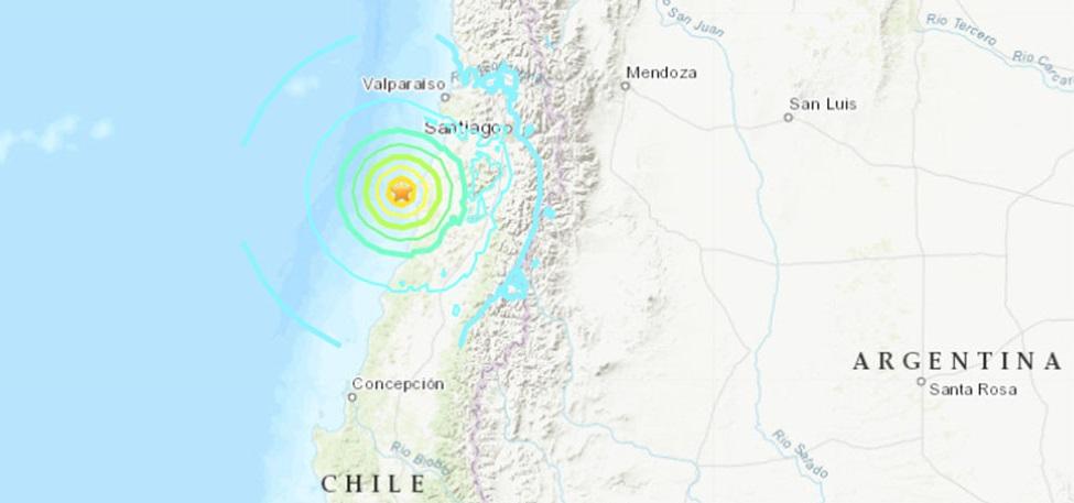 Sismo de 6.8 grados sacude centro de Chile