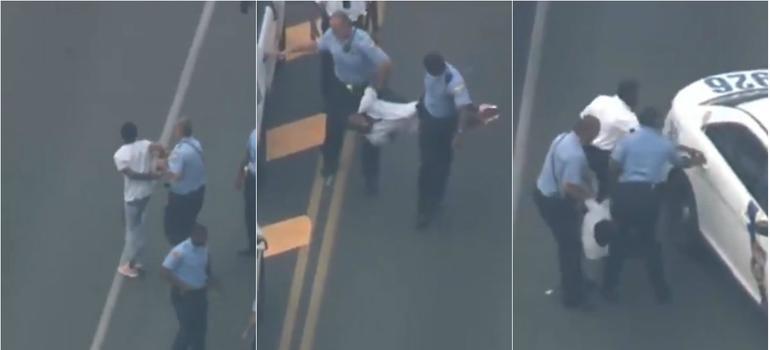Momento en el que arrestan a tirador de Filadelfia; falta otro