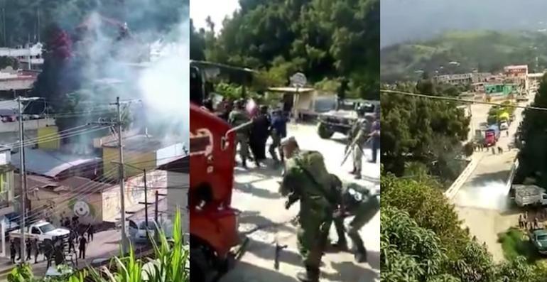 Balacera en Chiapas; heridos tres elementos de la GN (FUERTES VIDEOS)