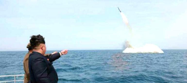 Detectan lanzamiento de 2 proyectiles de Corea del Norte