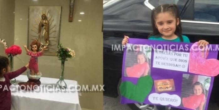 Niña de 7 años vence el cáncer y agradece a quienes apoyaron su tratamiento