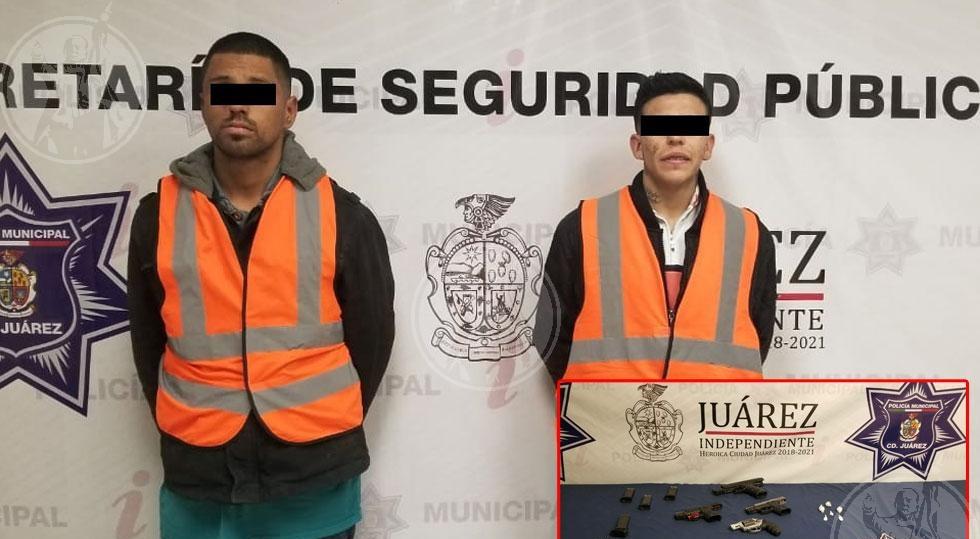 Arrestan a dos integrantes de 'La Empresa' con armas y cocaína