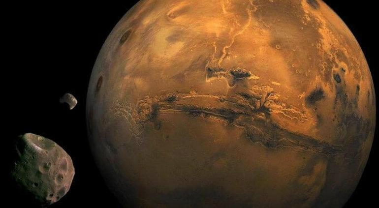 Planean EU, Rusia e Italia crear base habitable en luna de Marte