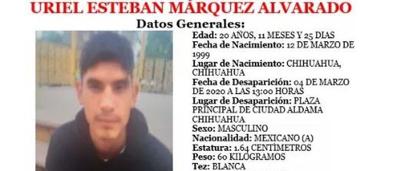 Desapareció joven de 20 años en Aldama; reportaron supuesto levantón
