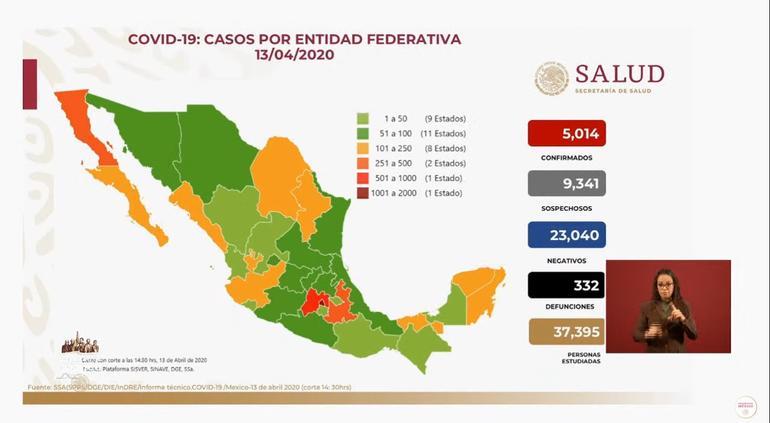 Coronavirus en México: 353 contagios y 36 muertos en 24 horas