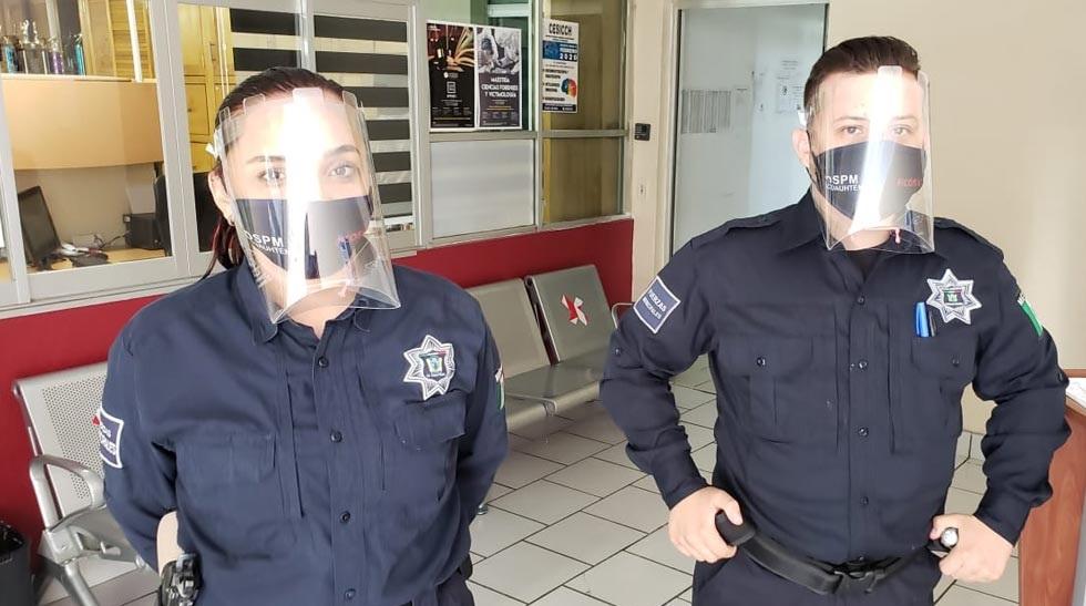Donan caretas protectoras a Seguridad Pública de Cuauhtémoc