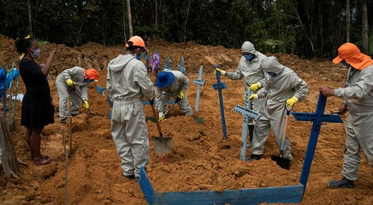 1 mil 188 muertos por coronavirus: Brasil registra su día más letal