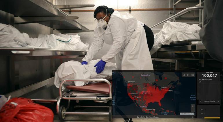 Rebasa Estados Unidos las 100 mil muertes por coronavirus