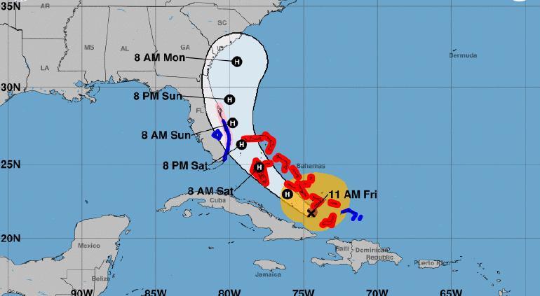 Evoluciona Isaías a huracán y amenaza a todo el este de EE.UU.