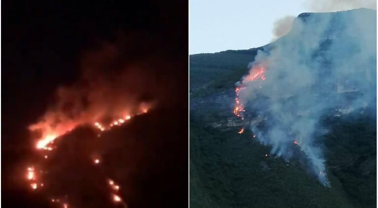 Encienden fogata tras perderse en Nuevo León y ¡causan incendio!