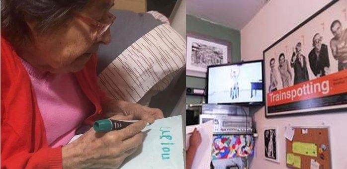 Abuelitos aprovechan clases por televisión para concluir sus estudios
