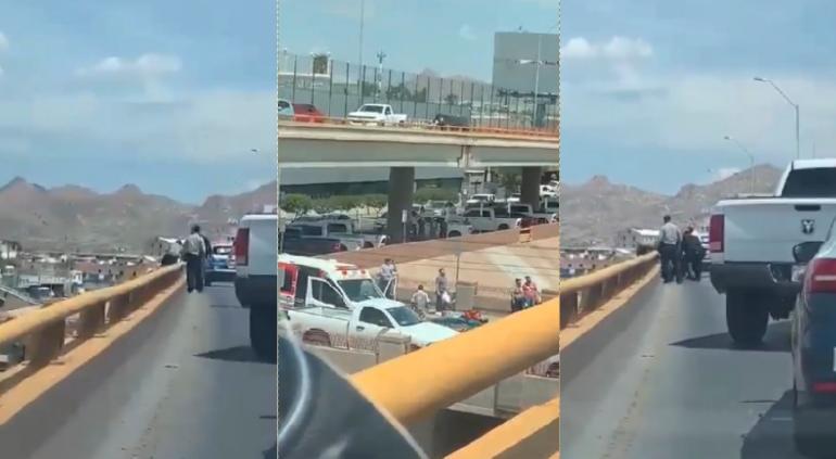 VIDEO: Lo rescatan policías de morir, iba a arrojarse en el Canal