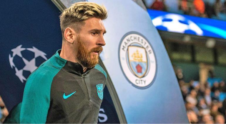 Papá de Leo aterriza en Manchester para fichar por el City, reportan
