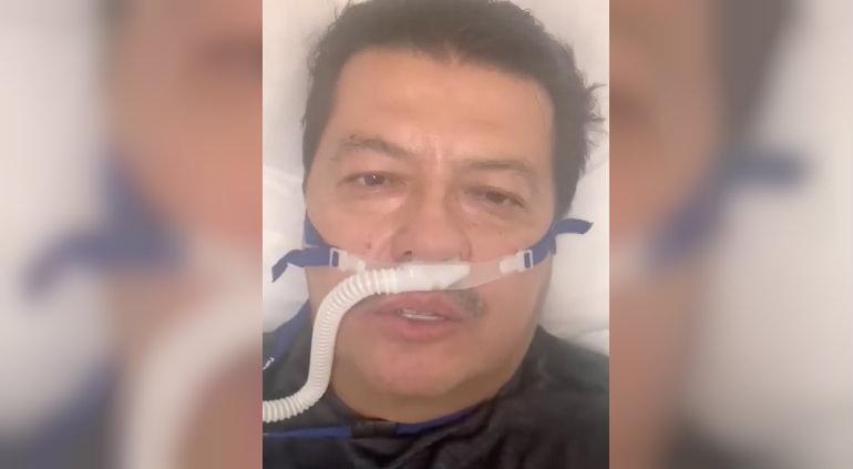 Conectaron a Cabada a respirador; envía mensaje