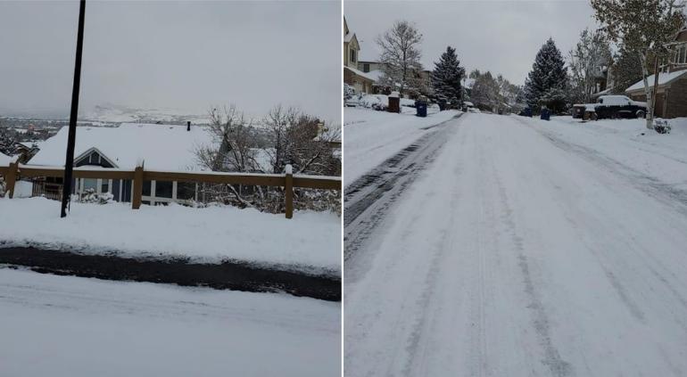 Captaron chihuahuenses blanco amanecer a -10ºC en Denver