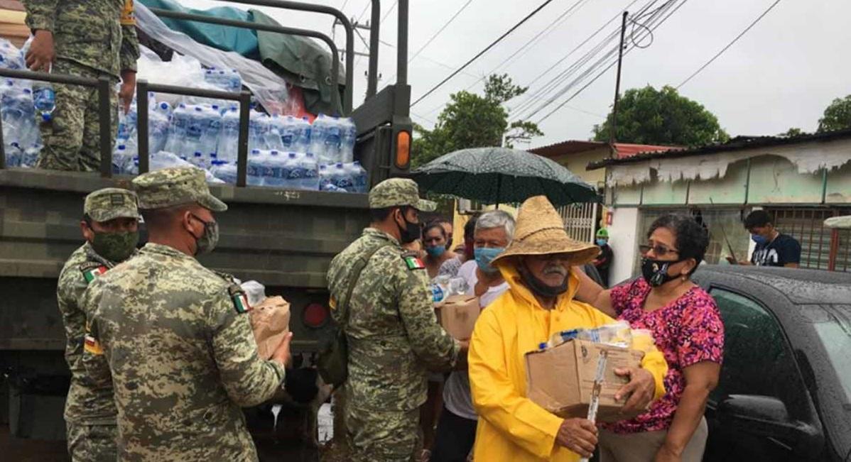 Sedena y Marina mantienen apoyos en Tabasco y Chiapas