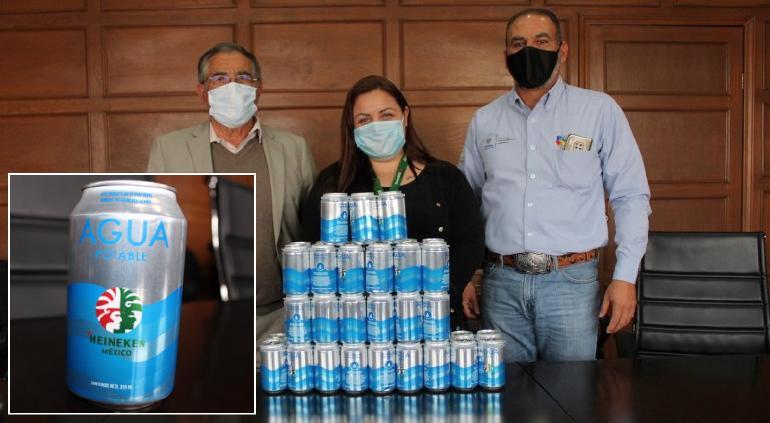 Dona Heineken 4 mil latas de agua purificada para vulnerables