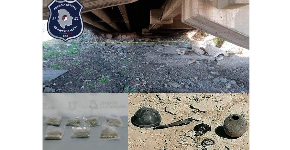 Aseguran granadas y droga en Jiménez