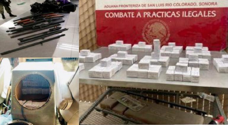 Impiden Ejército y Aduanas ingreso de armas largas de EU a México