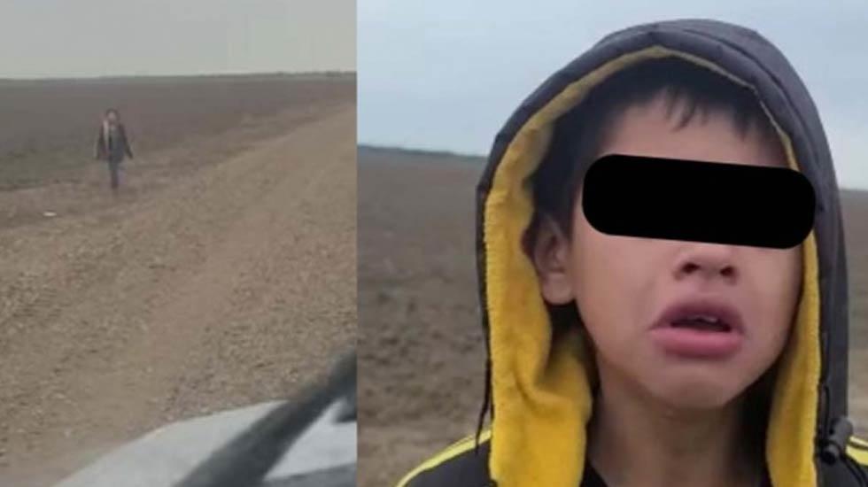 Video: Niño migrante suplica ayuda a agente fronterizo; su grupo lo abandonó