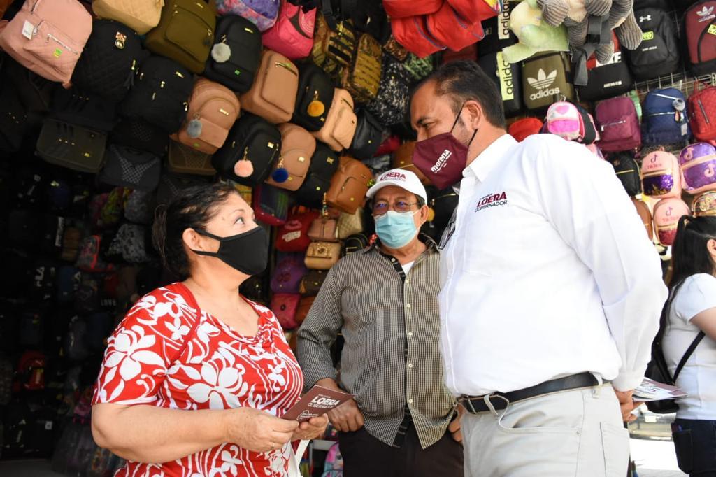 En mi gobierno vamos a promover el comercio: Juan Carlos Loera