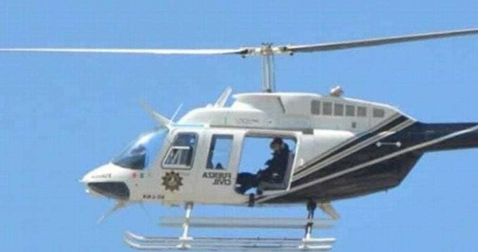 Disparan vs helicóptero de Seguridad Pública en Nuevo León