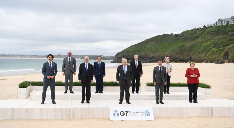 Impulsa Biden un frente amplio del G7 contra China
