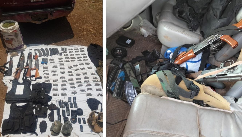 Aseguran droga, armas, equipo táctico y vehículo robado en Guadalupe y Calvo