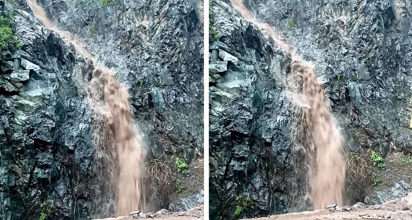VIDEO: Sale cascada en la entrada a batopilas tras las lluvias