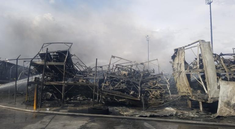 Lograron controlar megaincendio en maquila de Juárez; no hubo lesionados