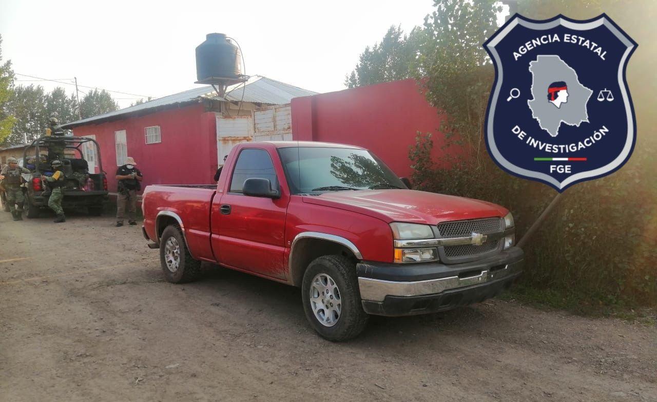 Durante cateo, aseguran en Guachochi un vehículo robado