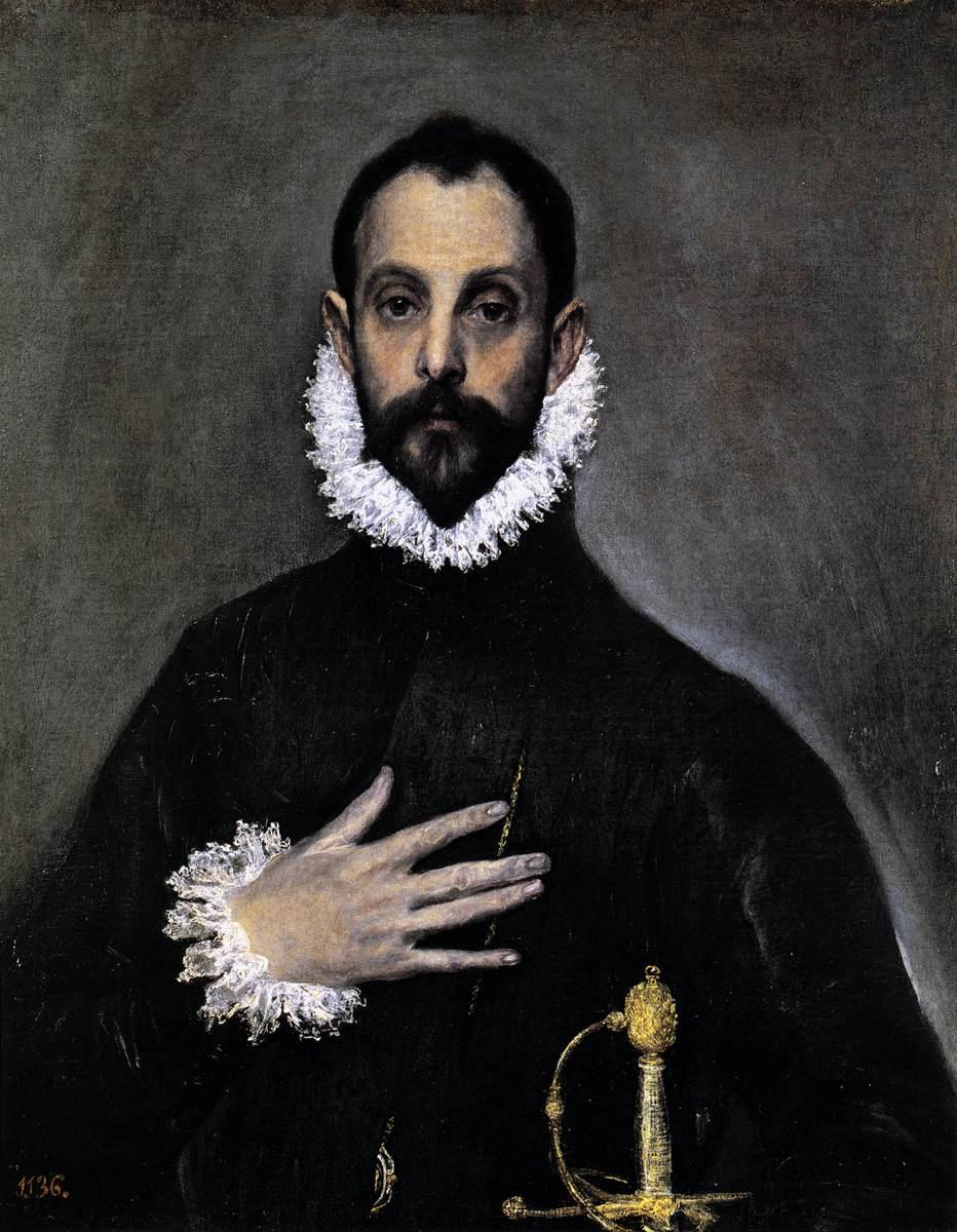 El Greco - El caballero de la mano en el pecho (1578)