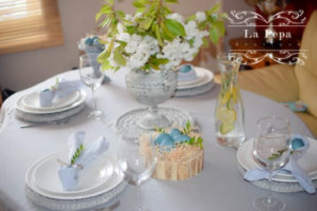 Easter table styling
