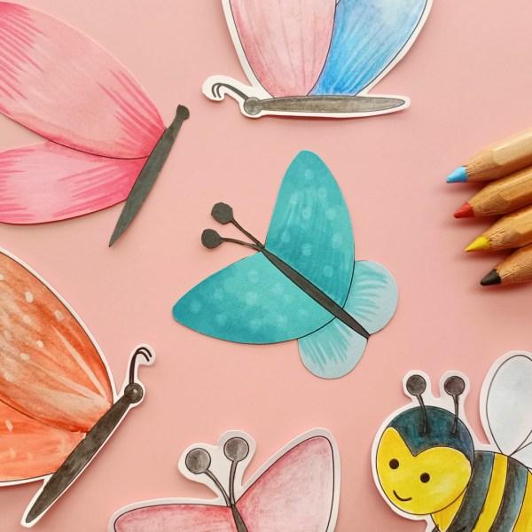 coloreables mariposa