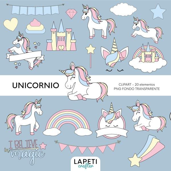 clipart unicornio