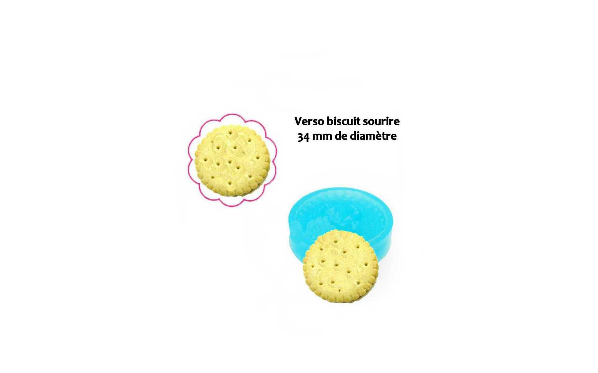 Moule silicone Biscuit sourire verso 34 mm