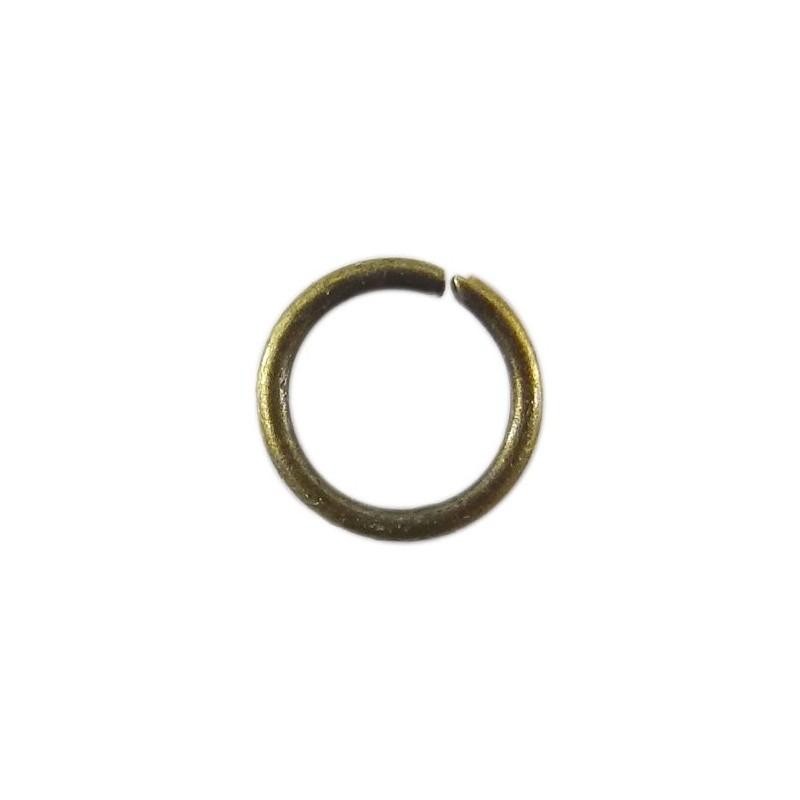 Lot de 100 anneaux de jonction ouvert bronze diamétre 5mm