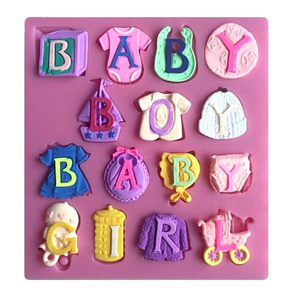 Moule silicone BABY BOY / BABY GIRL