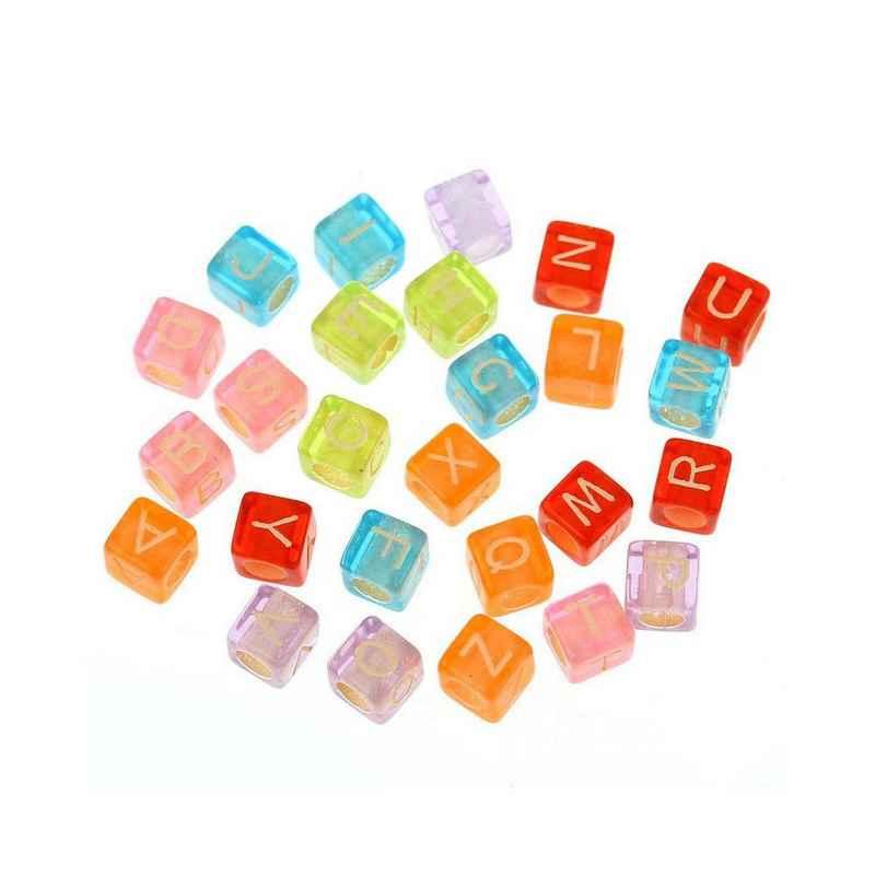 perle cube multicolore