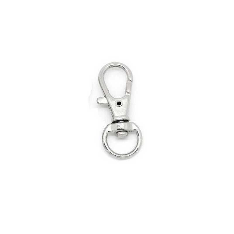 1 anneau attache porte clés mousqueton