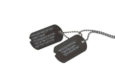 US Army Dog Tags markings