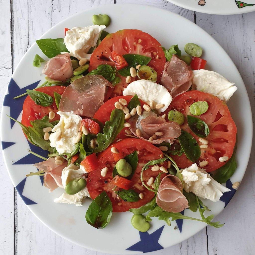 salade tomate jambon mozzarella