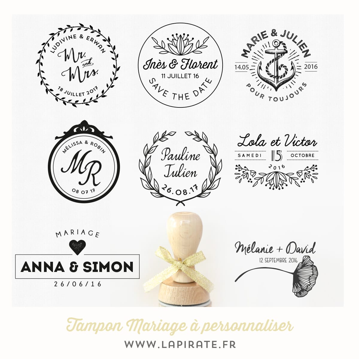 Tampon Mariage Personnalis Ds 26 Faire Part Mariage