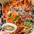 Recette Cuisine vidéo Nouille Soba, Daïkon et ciboule