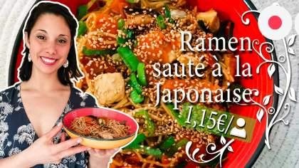 Vidéo Cuisine: Recette Ramen sauté à la Japonaise