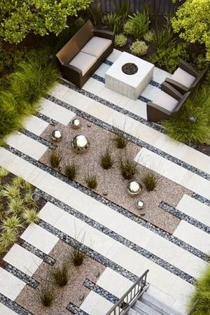 le jardin minimaliste moderne