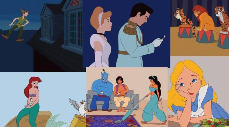 El ilustrador Tom Ward recrea como serían los personajes de Disney en el 2017