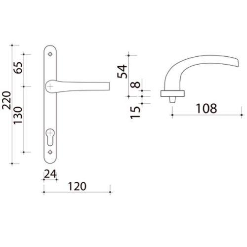 poignee de porte extra plate pour volet roulant modele zenia